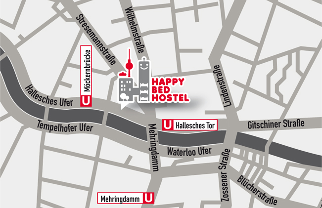 HAPPY BED HOSTEL - Hallesches Ufer 30, 10963 Berlin